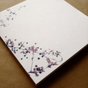 Image of Sticky Notes Memo Pad Plum Blossoms