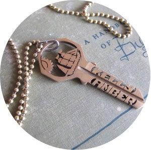 Image of KEY NECKLACE /// CUSTOM**