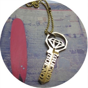 Image of KEY NECKLACE /// SHINE ON