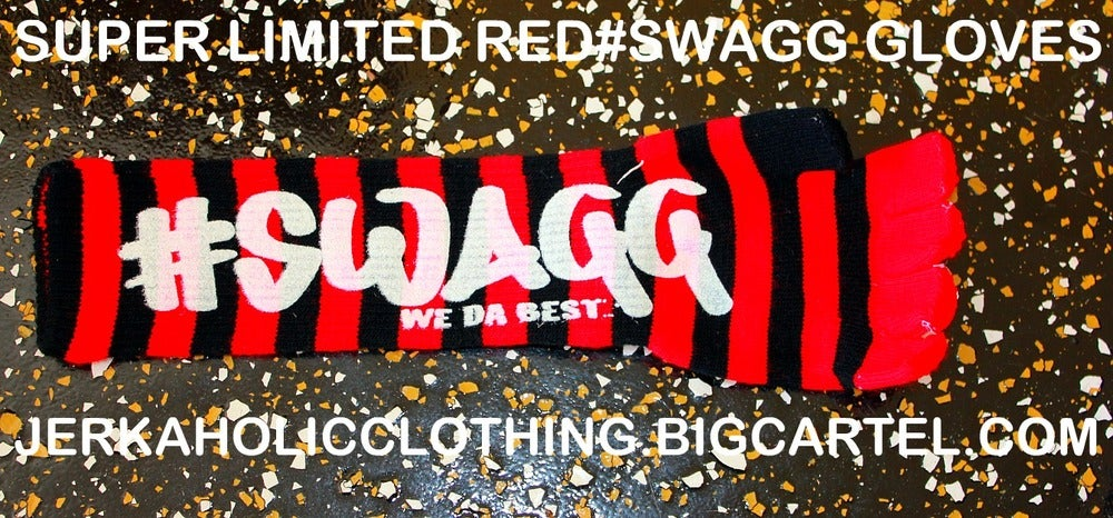 Image of red #swagg glove