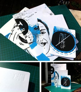 Image of Recycled Screen Printed Sketchbooks