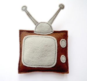 Image of Retro TV Organic Catnip CAT TOY Handmade by Oh Boy Cat Toy
