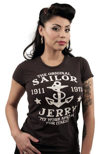 Image of Sailor Jerry Women's Tee - My work speaks for itself (Black)