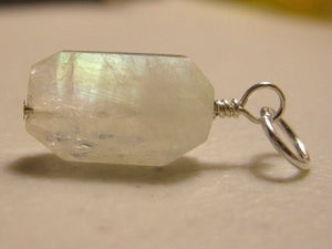 Image of Rainbow Moonstone Nugget Pendant