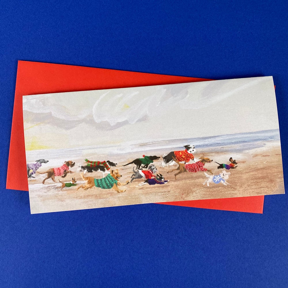 Image of *PREORDER* 'Christmas Dogs' Luxury Greetings Card (single or multipack)