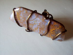 Image of Wirewrapped Artisan Ring Pietersite in Antiqued Copper Wire