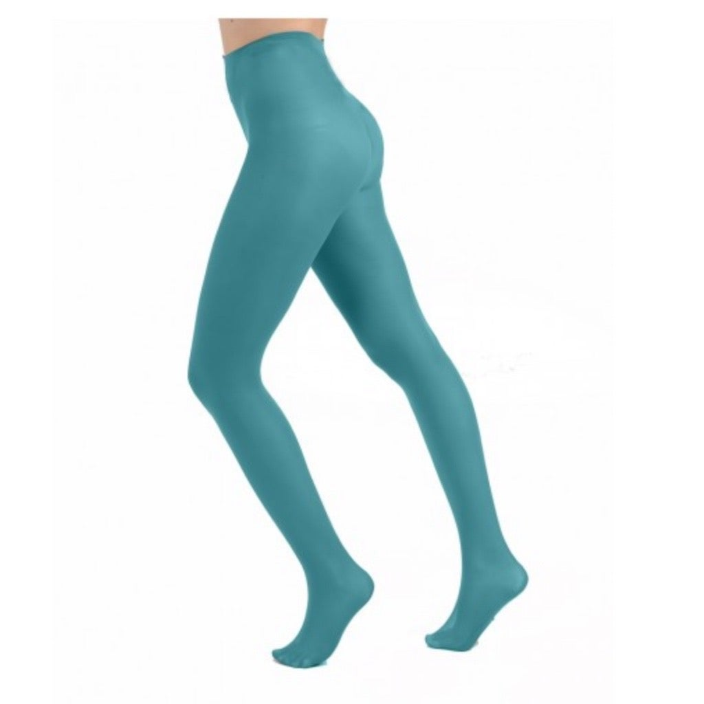 Aqua Opaque Tights with Free Postage