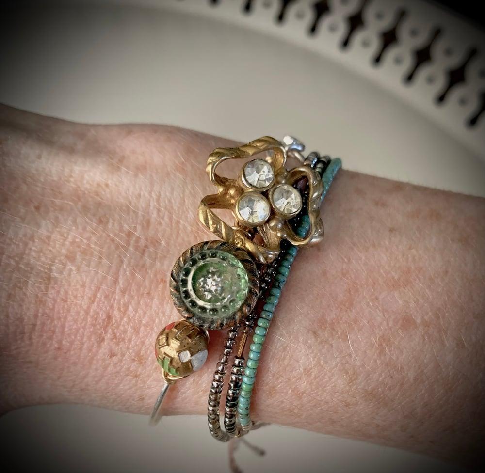 """Image of """"The Darling"""" Vintage Button Bracelet"""