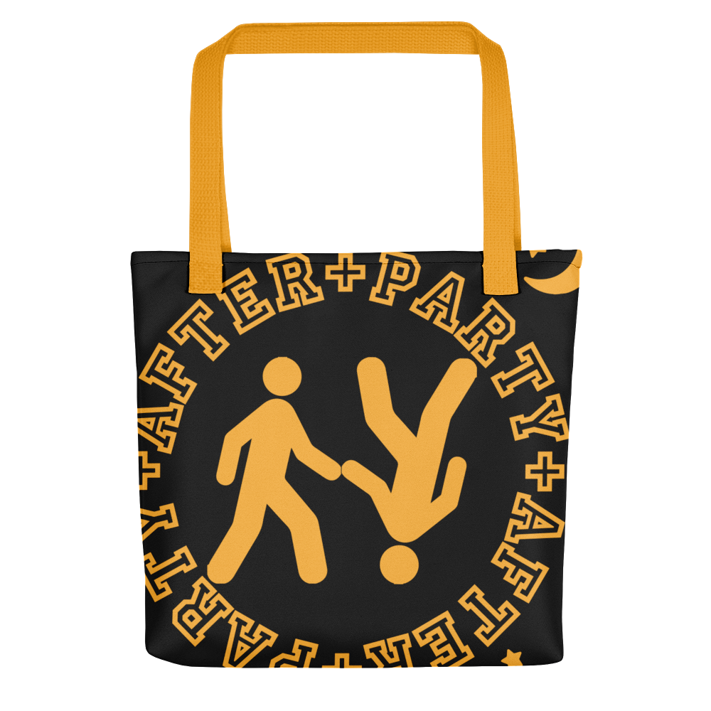 Image of After Party Tote (Black & Yellow)