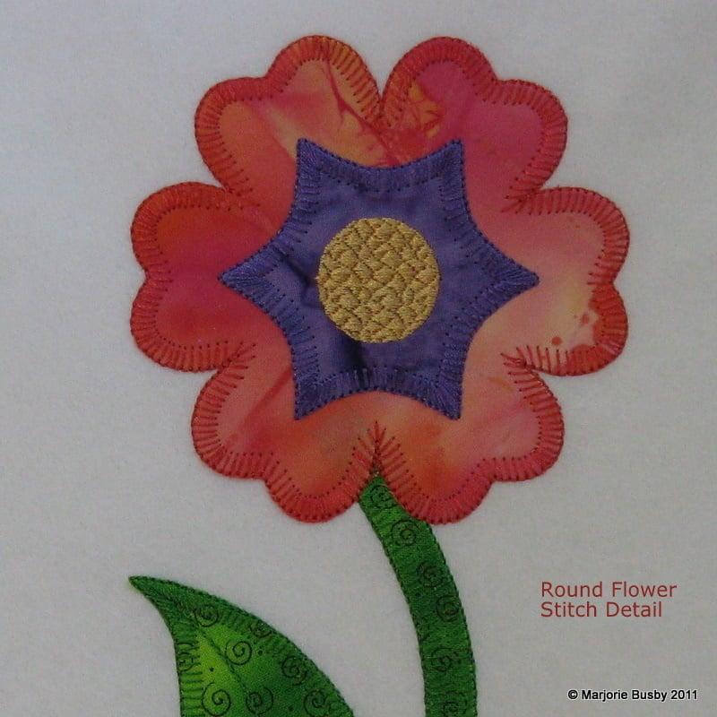 Image of Flower Applique from Accuquilt Round Flower Die