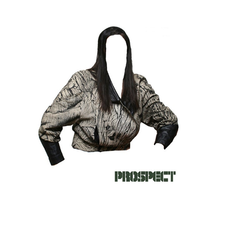 Image of Take on Camo Leather Double Breasted Jacket with Cinched Sleeves