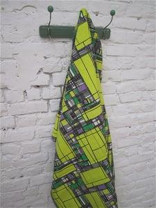 Image of tissu années 50 jaune/gris