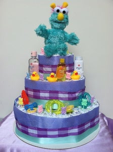 Image of Fancy Baby Diaper Cake