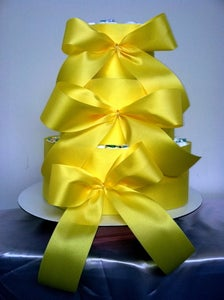 Image of 1 color ribbon only Baby Diaper Cake