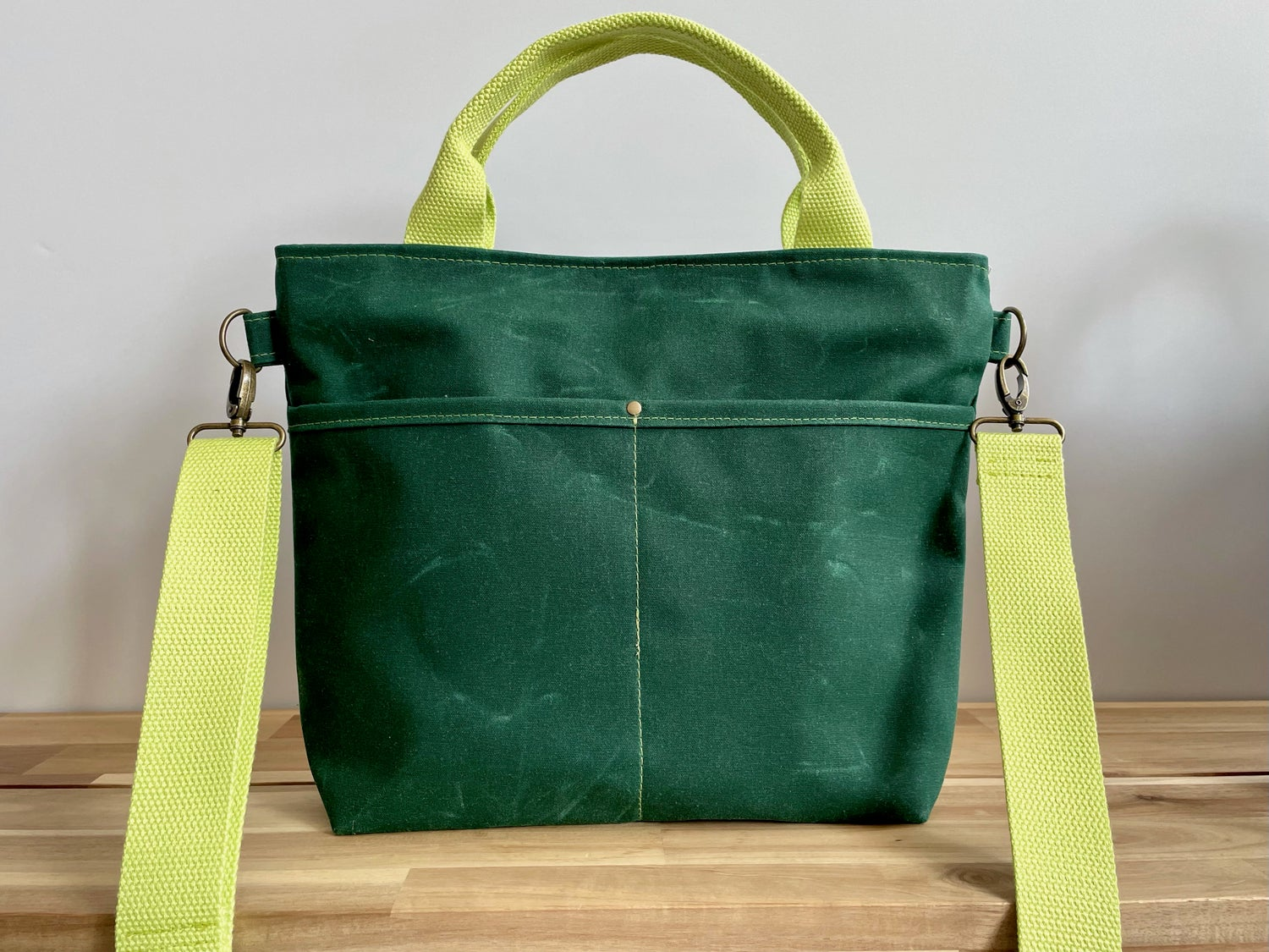 Image of Pre-Order Kelly Green Crossbody Crafting Tote