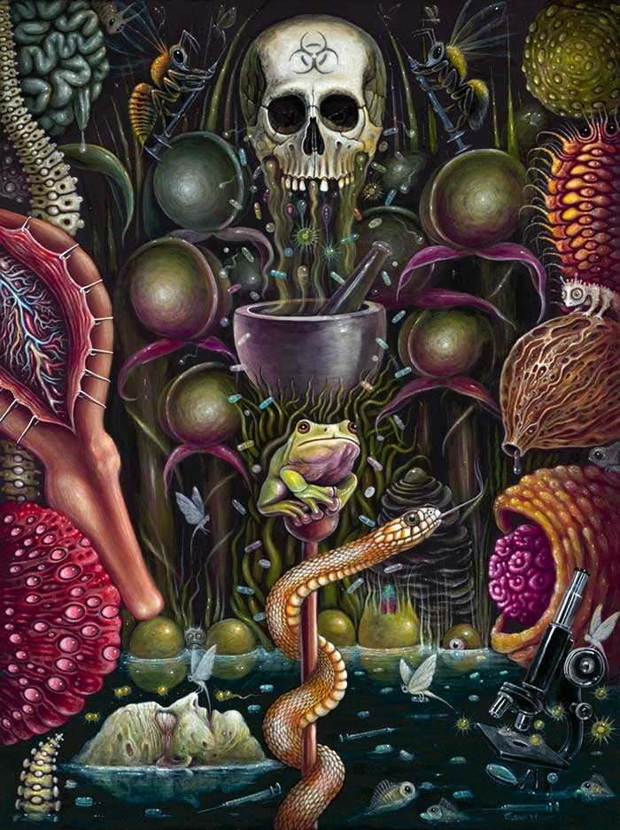 "Image of PHARMAGARDEN ~ 18 x 24""  Open Signed Edition"