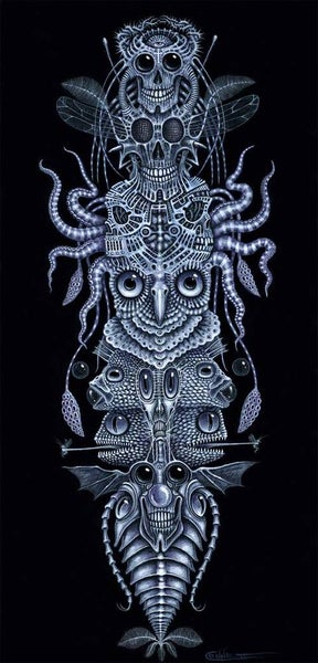 "Image of SPINAL TOTEM TATTOO ~ 12 x 24"" SPECIAL Signed Edition"