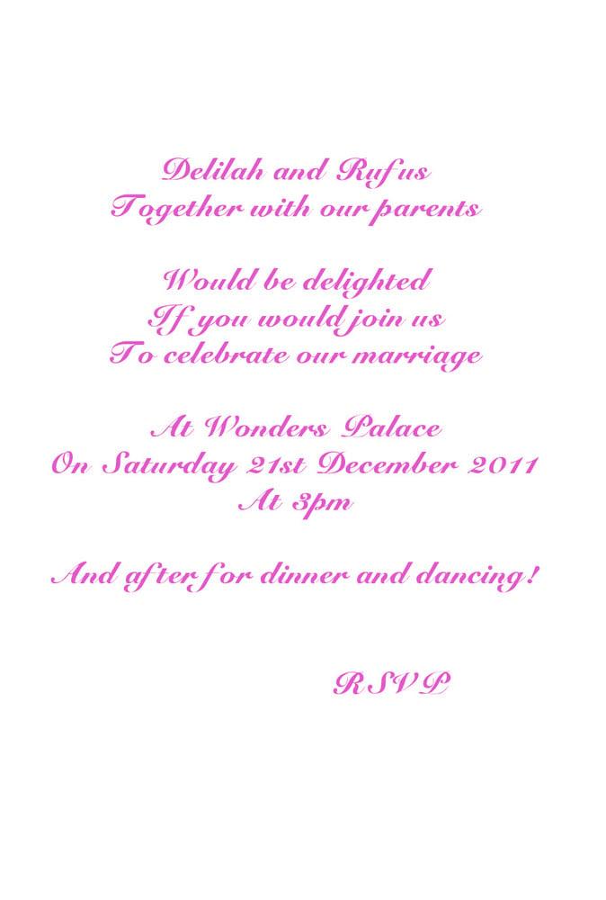 Wedding Invitation ordering & discount information