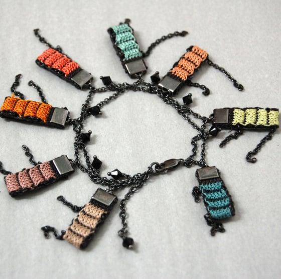 Image of Pixels Charm Bracelet