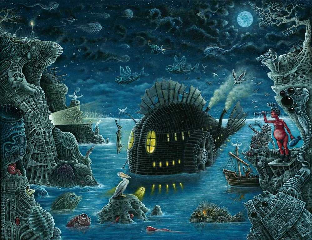 "Image of ""NIGHT TRAWLER""   19 x 24"" Special Large Signed Edition"