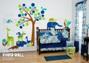 Matching decal stickers for theme Modern Zoo line - KK124