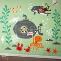New Design - Underwater Theme Decal Stickers for Nursery Kids Room - dd1057