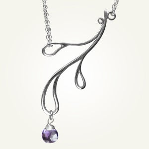 Image of Hama Rikyu Necklace with Amethyst, Sterling Silver