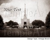 Image of Denver Colorado LDS Mormon Temple Art 001 - Personalized LDS Temple Art