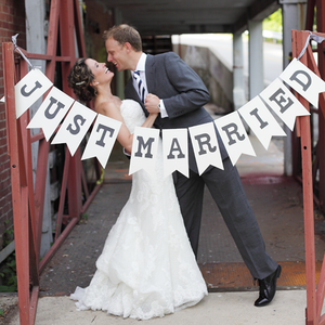 Image of Just Married Banner - Sewn