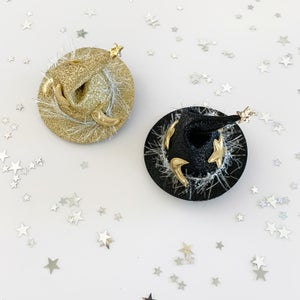 Image of Glitter Witch Hat Clip