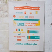 Image of 'How To: Screenprint' paper print