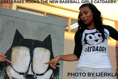 Image of CATDADDY GURLS BASEBALL TEE