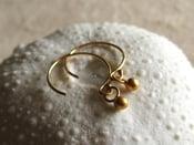 Image of Tiny gold ball dot earrings