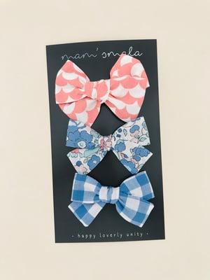Image of Barrette, bloomer & petite jupe vichy bleu clair