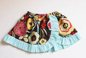 Image of Janie Curved Skirt Boutique Style PDF Sewing Pattern in Sizes Newborn up to 14