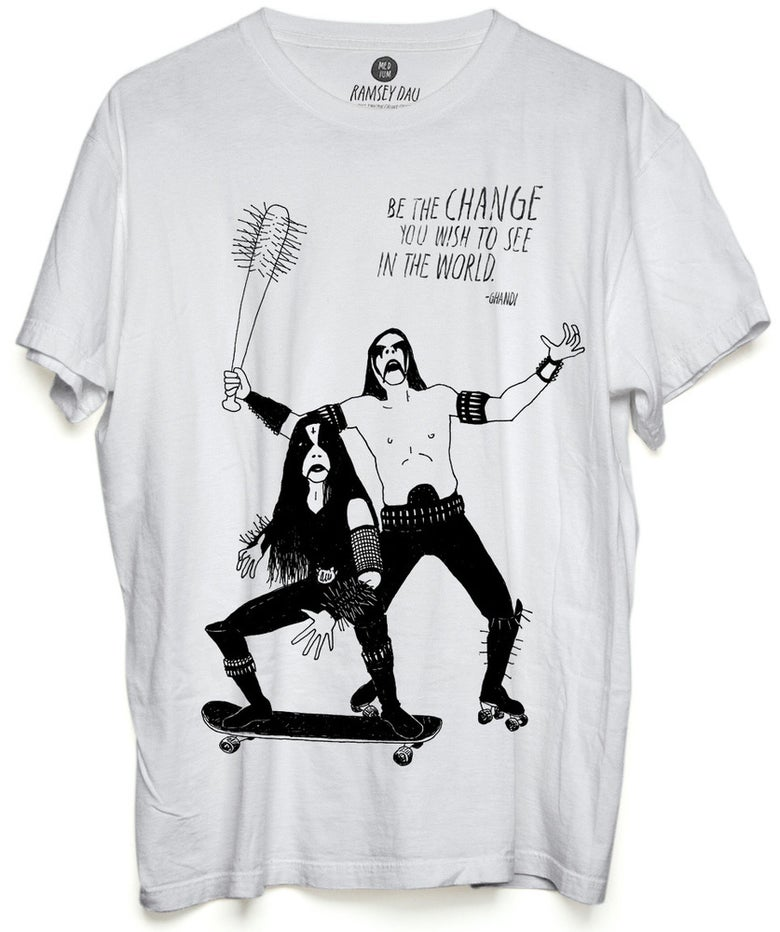 "Image of Ramsey Dau ""Ghandi Black Metal Rockers"" T-Shirt"