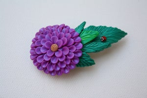 Image of June 25 - purple flower hairclip