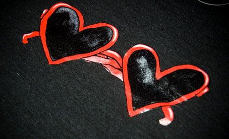 Image of Heart Sunglasses Black