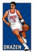 Image of Drazen Petrovic / New Jersey Nets poster