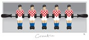 Image of Croatia / fussball poster