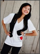Image of Heart V Neck (White)