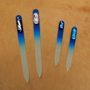 Image of Czech Crystal Nail File - cobalt