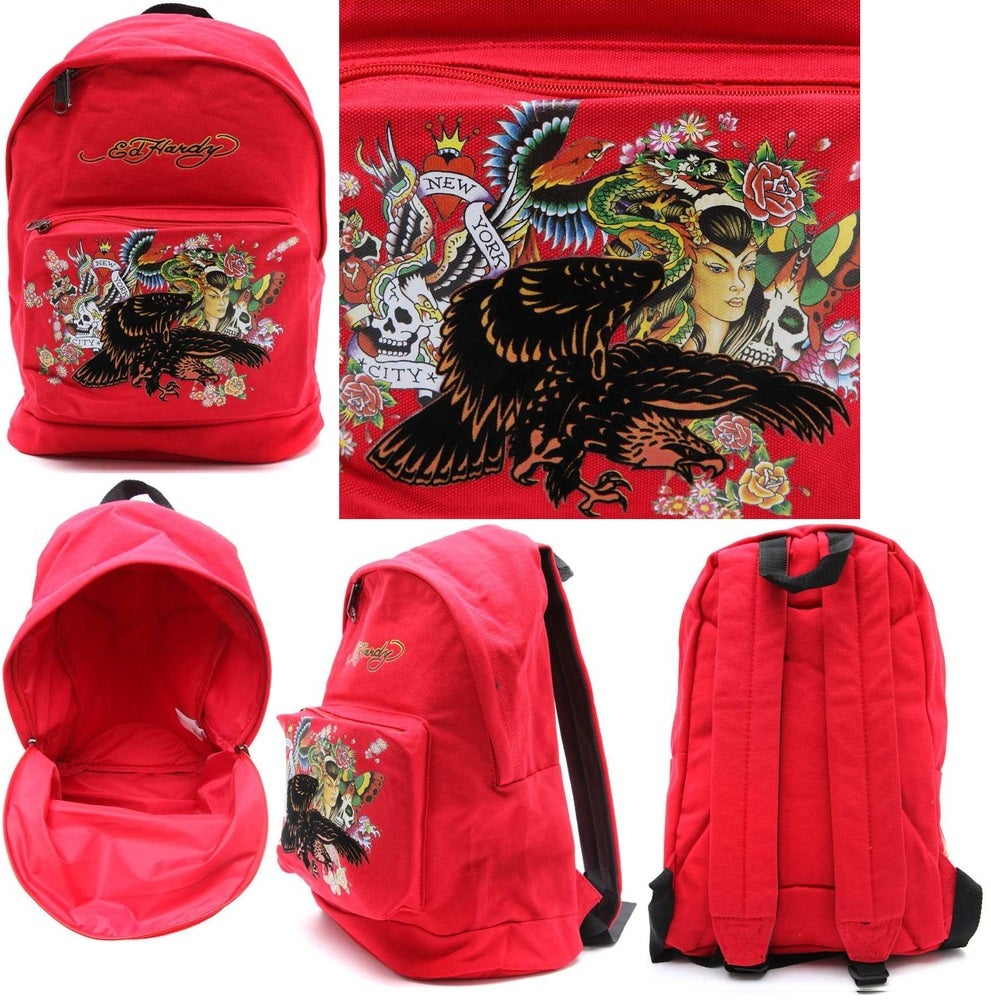 b81510ae614e BigShop — SALE - Ed Hardy Melrose Eagle Backpack  NEW EDITION
