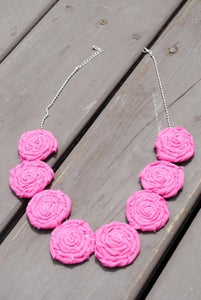 Image of Rosie Statement Necklace (8 rosies)