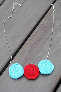 Image of Patriotic Rosie Necklace