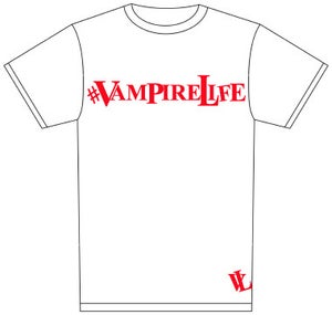 Image of #VampireLife T-shirt White