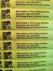 "Image of 2011 ""Gotta Gig Gotta Go"" Wrist Band Concert Tickets"