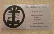 "Image of Children Of God ""Coup de Grace"" 7"""