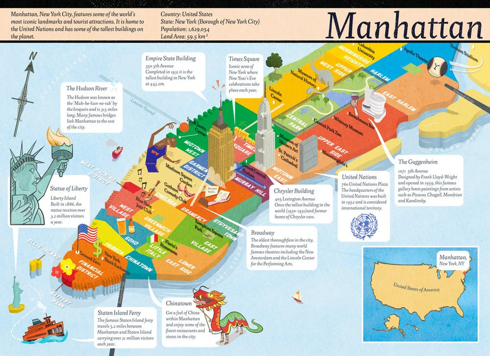 Robin Boyden Illustration Manhattan Map