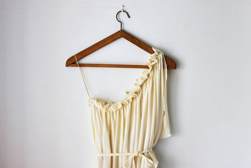 Image of 1970s cream Grecian goddess dress {SOLD}